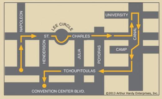 Orpheus Parade Route