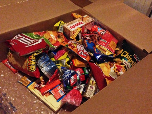 A box of German snacks, the latest of my swaps at the time of writing this Hub.
