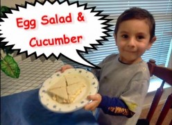 How to Make Crustless Egg Salad & Cucumber Tea Sandwiches - Easy Recipe for Toddlers & Kids