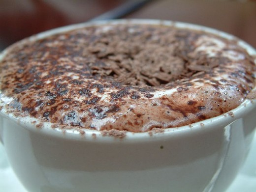 Hot chocolate with a creamy head.