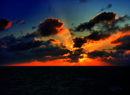 Sunset North Atlantic from Egon Philipp flickr.com