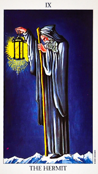 """The most common """"Hermit"""" Tarot card."""