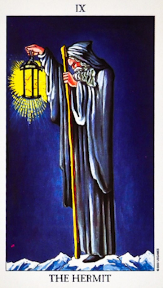 "The most common ""Hermit"" Tarot card."
