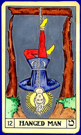 """The most common Tarot card for """"The Hanged/Hanging Man."""""""