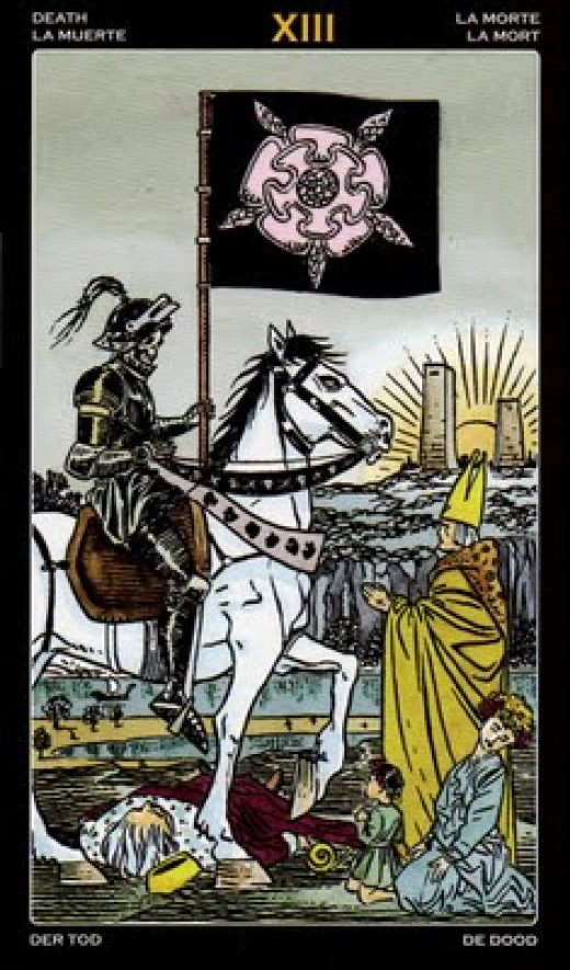 "The most common Tarot card for ""Death."""