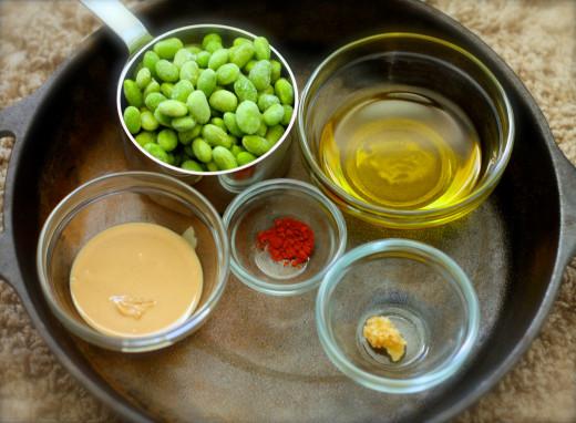 Ingredients for Smoky Edamame Hummus