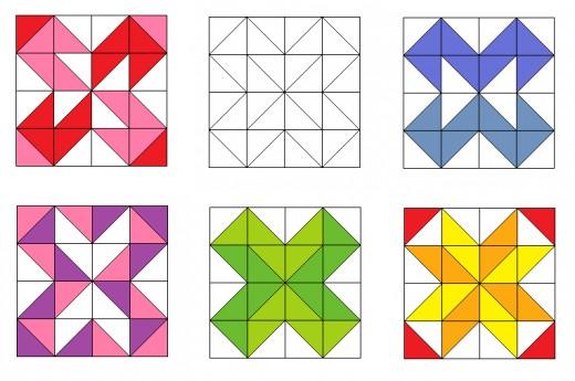 Cross quilting blocks