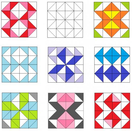 Star and zigzag quilt blocks