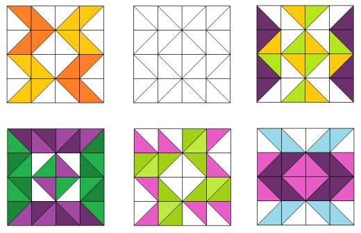 Arrow quilt blocks