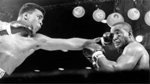 Ali, then known as Cassius Clay, pulled off the upset by beating Sonny Liston for the heavyweight championship.