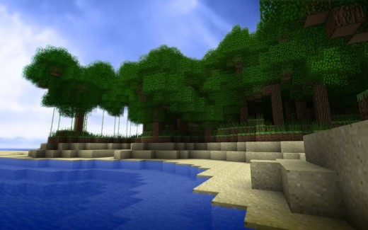 A picture of the beautiful cube world that is Minecraft.