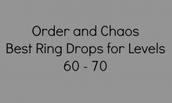 Order and Chaos Drops: Common Level 60 - 70 Warrior and Ranger Rings