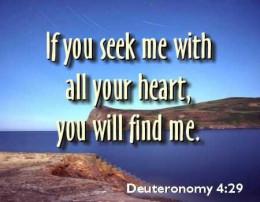 Will you seek Him?
