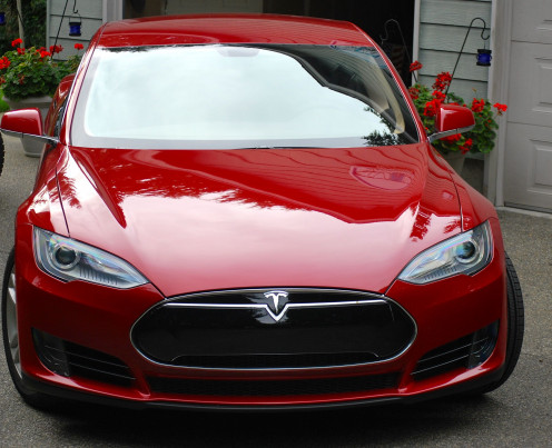 My Dad's Tesla Model S 2013