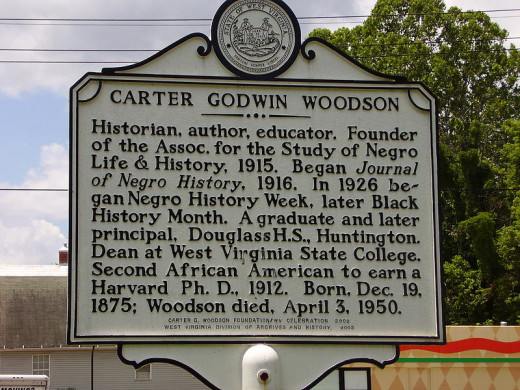 Carter G Woodson Roadside marker