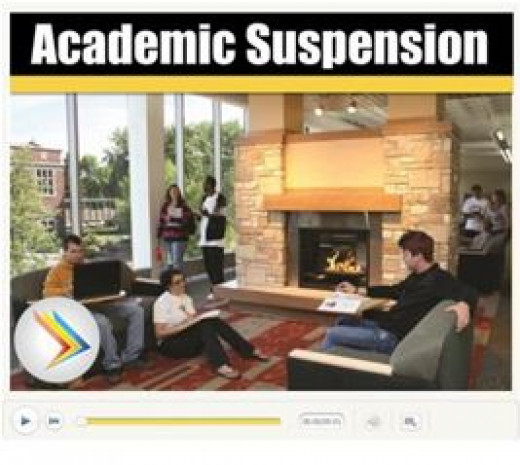 What does academic suspension mean?