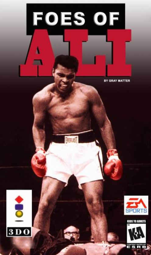 In Foes of Ali, all of Muhammad Ali's most famous opponents are featured. You can play as Ali fighting the other guys or you can play as one of the contenders and box Muhammad Ali in the championship bout.