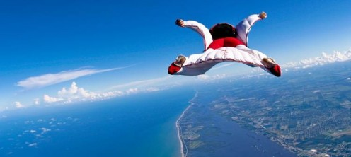 Skydiving is an adrenaline pumping activity. Never go skydiving without proper training and gear for protection.