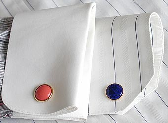 French Cuff Shirt designs With Cufflinks Fitted look great on Girls