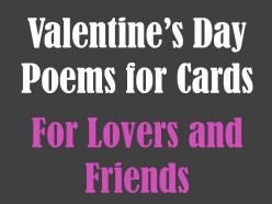 Valentines Day Poems for Cards: For Friends and Lovers