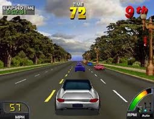 Cruisin USA had superb gameplay and sound. This game is played on multiple tracks from around the United States. First released in Arcades it was eventually ported to several home gaming consoles.
