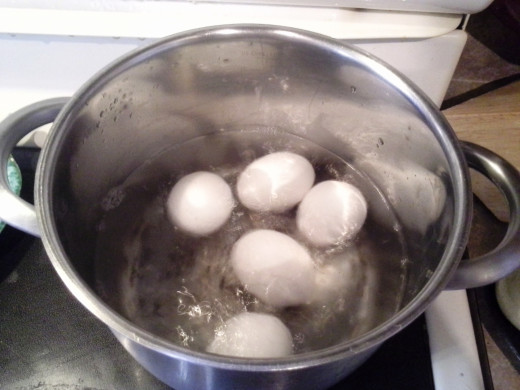 Step Five: Boil your eggs for 20 minutes, making sure that the water level stays above the eggs