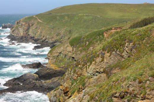 A beautiful view of the coast along the Lizard
