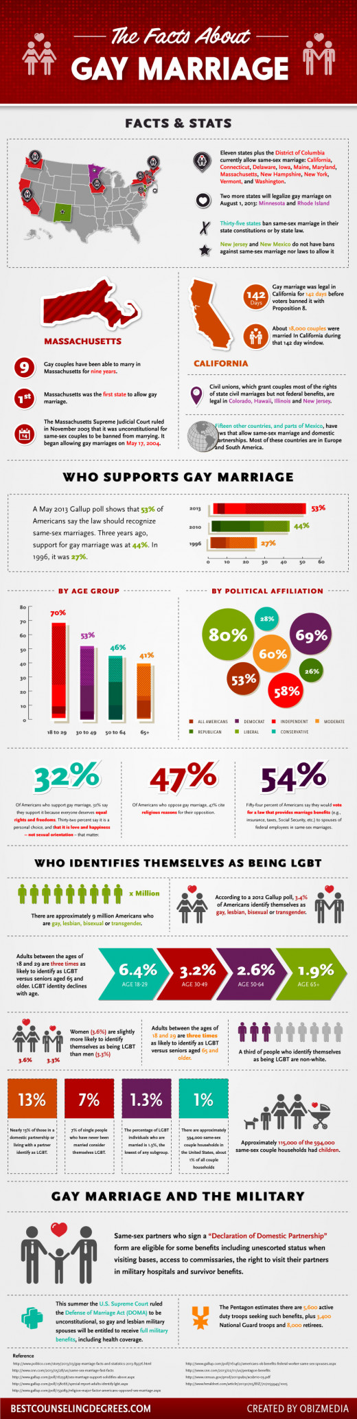 Facts about Gay Marriage Infographic