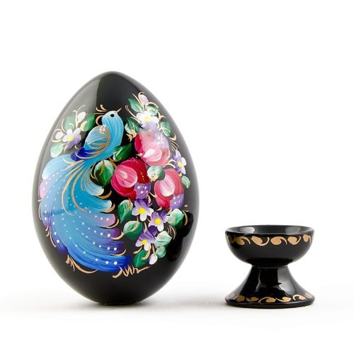 Gift Your Friends this Easter, the Wooden Easter Egg Which is Handpainted in Beautiful Colors