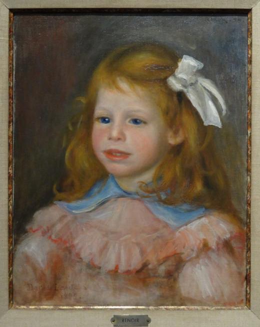 Portrait by Renoir (1899 ) in the Musée des beaux-arts de Limoges - Palais de l'Évêché Renoir came from Limoges (Photographer Sergey Prokopenko)