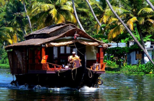 Boathouse in Alleppey