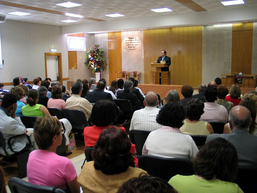 Meeting (or service) at a Kingdom Hall