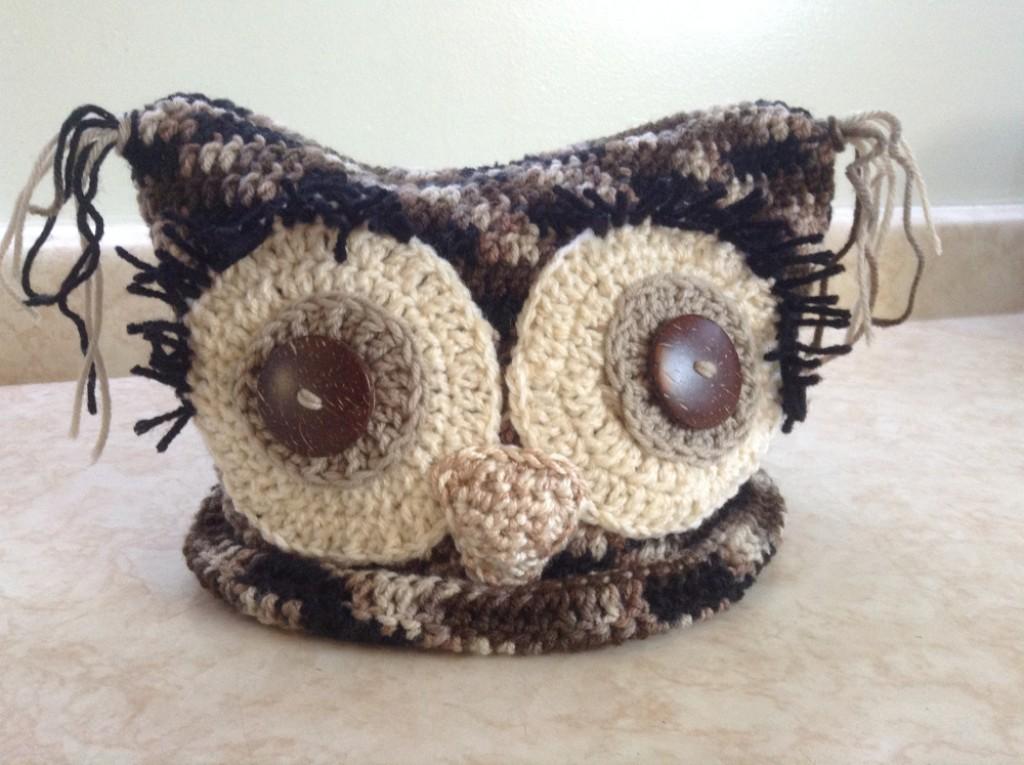 Free Crochet Pattern Owl Beanie : Free Pattern: Square Crochet Owl Hat