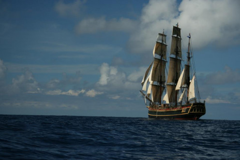 "The glorious, magestic HMS Bounty, one of the breathtaking ""Tall Ships"" ... may she rest in peace."
