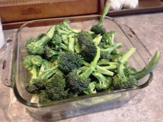 Step Five: Finish with all of your broccoli