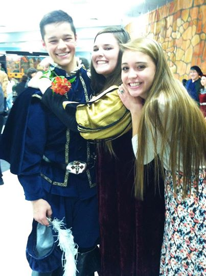 Zane was Prince Charming in Madrigal