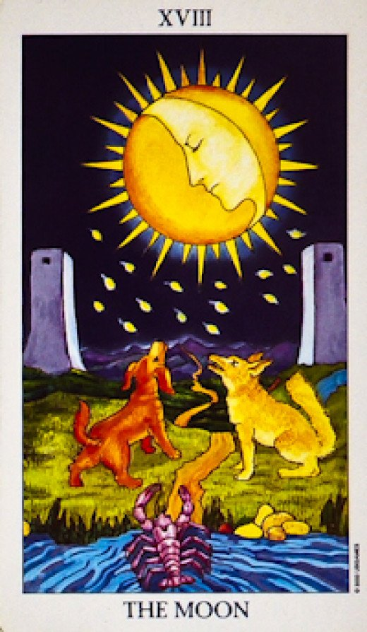 "The most common ""Moon"" Tarot card."