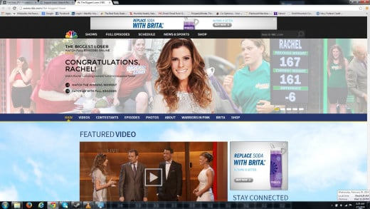 "Screenshot taken from the homepage of ""The Biggest Loser"" website at www.nbc.com/the-biggest-loser"