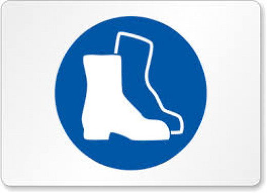 PPE sign for Safety Boots