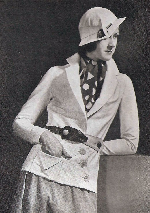 Tailored look of 1932