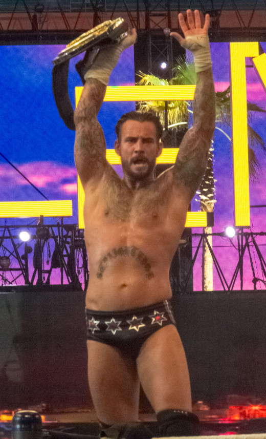 CM Punk held the WWE title for a record 434 days.