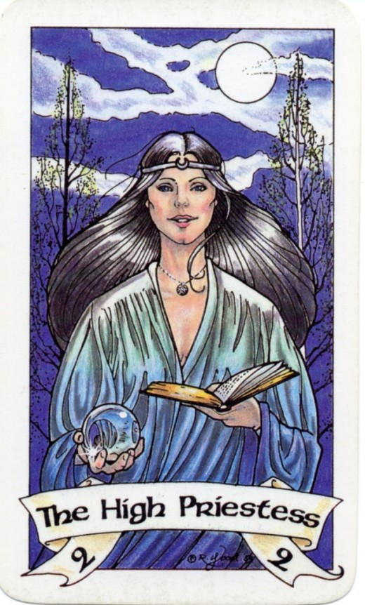 "A Native American depiction of ""The High Priestess."""
