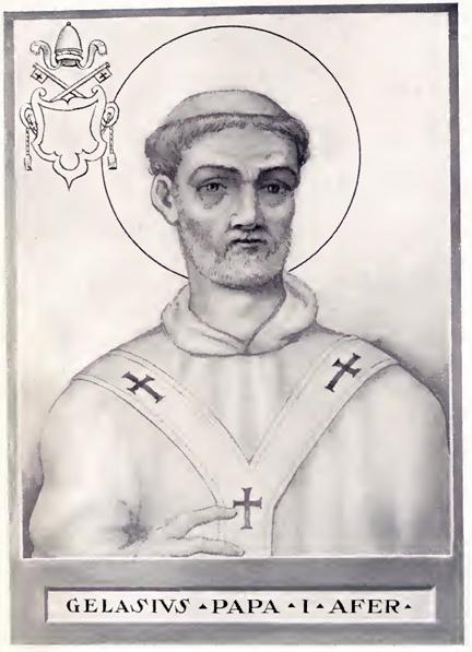 This man Pope Gelasius I, was not having it