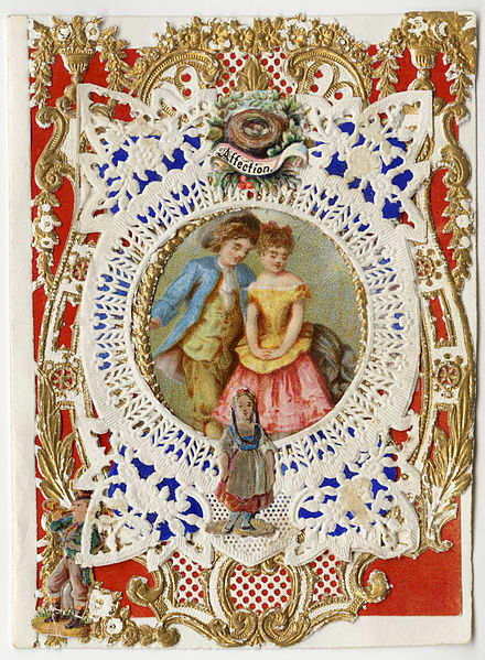 Esther Howland's Valentine card titled, Affection 1870s'