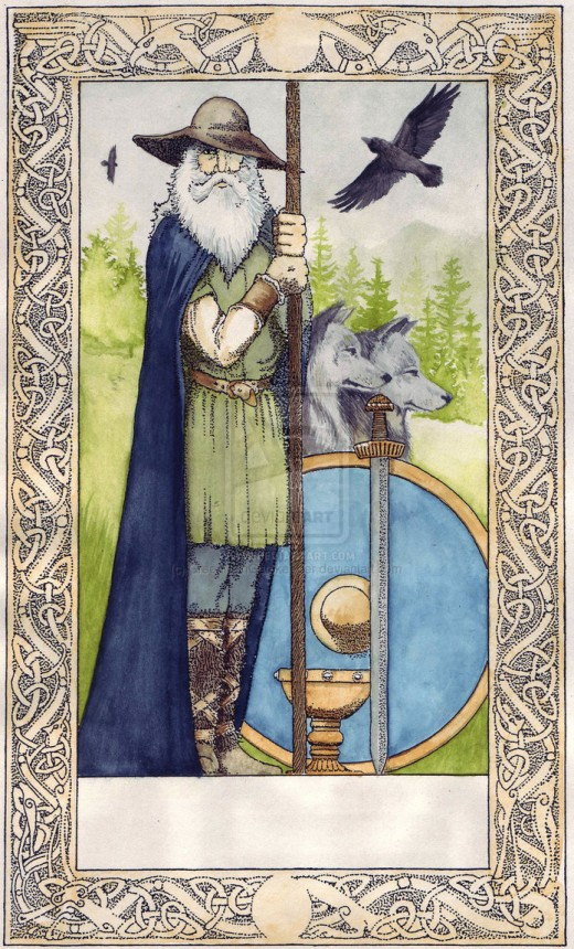 Odin, King of the Norse Viking Gods.