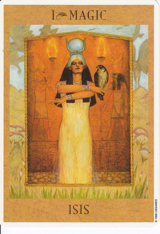 Isis, Egyptian Goddess of magic.
