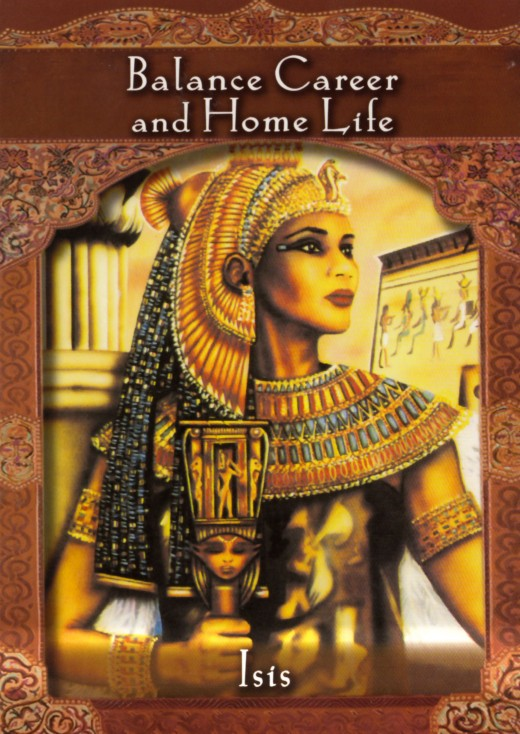 Isis, sister and wife of the powerful Osiris.