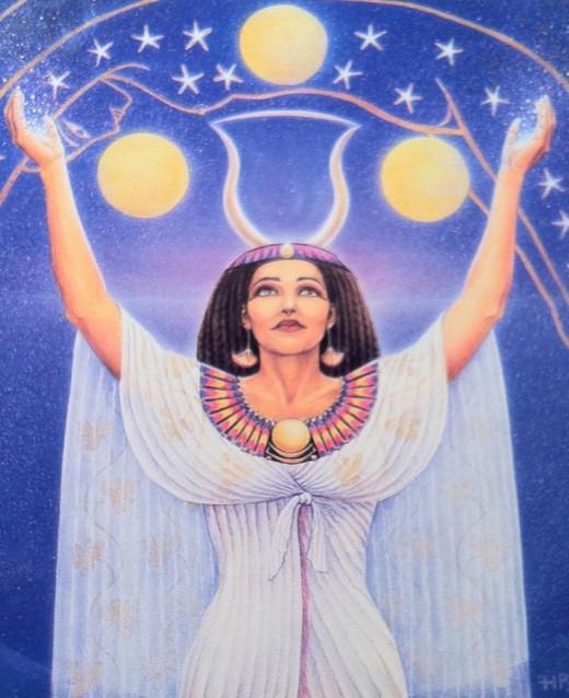The Egyptian Goddess Nut.