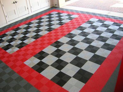 Interlocking tiles of PVC matting are available in a range of sizes, surfaces, and patterns.