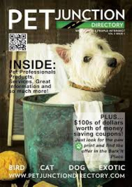 Tiki the Dog Model on the cover of Pet Junction Magazine.